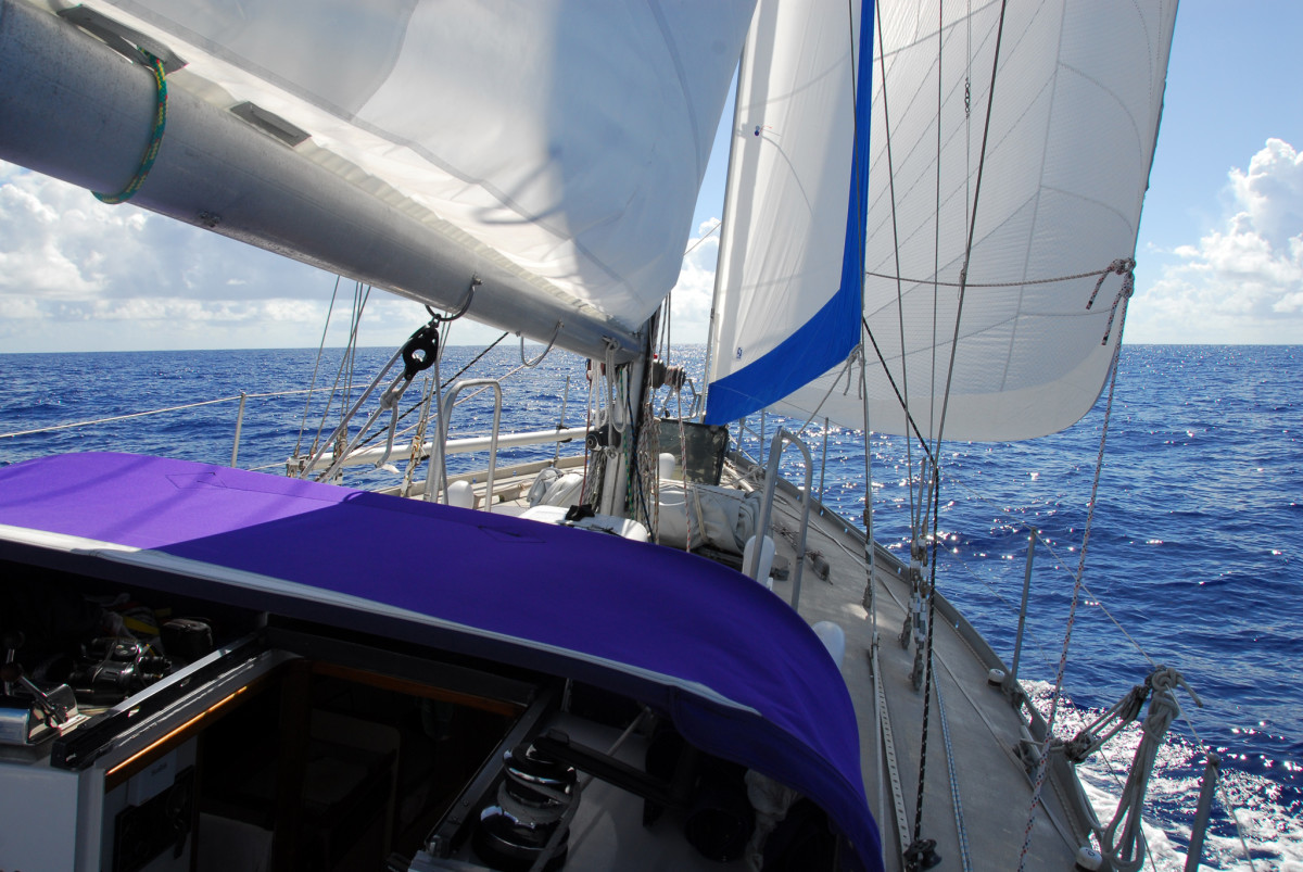 The cutter rig is ideal for ocean cruising