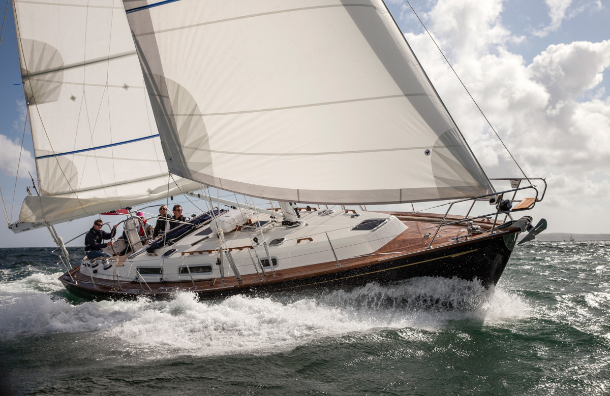 The Rustler 37 is a fine example of a fin-and-skeg bluewater boat