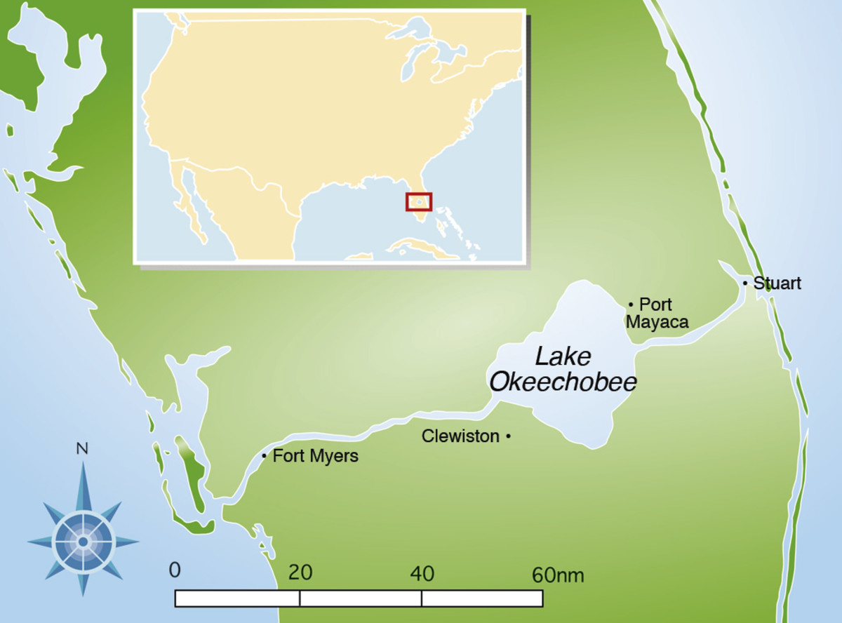 The Okeechobee Waterway cuts right through the heart of the Florida peninsula