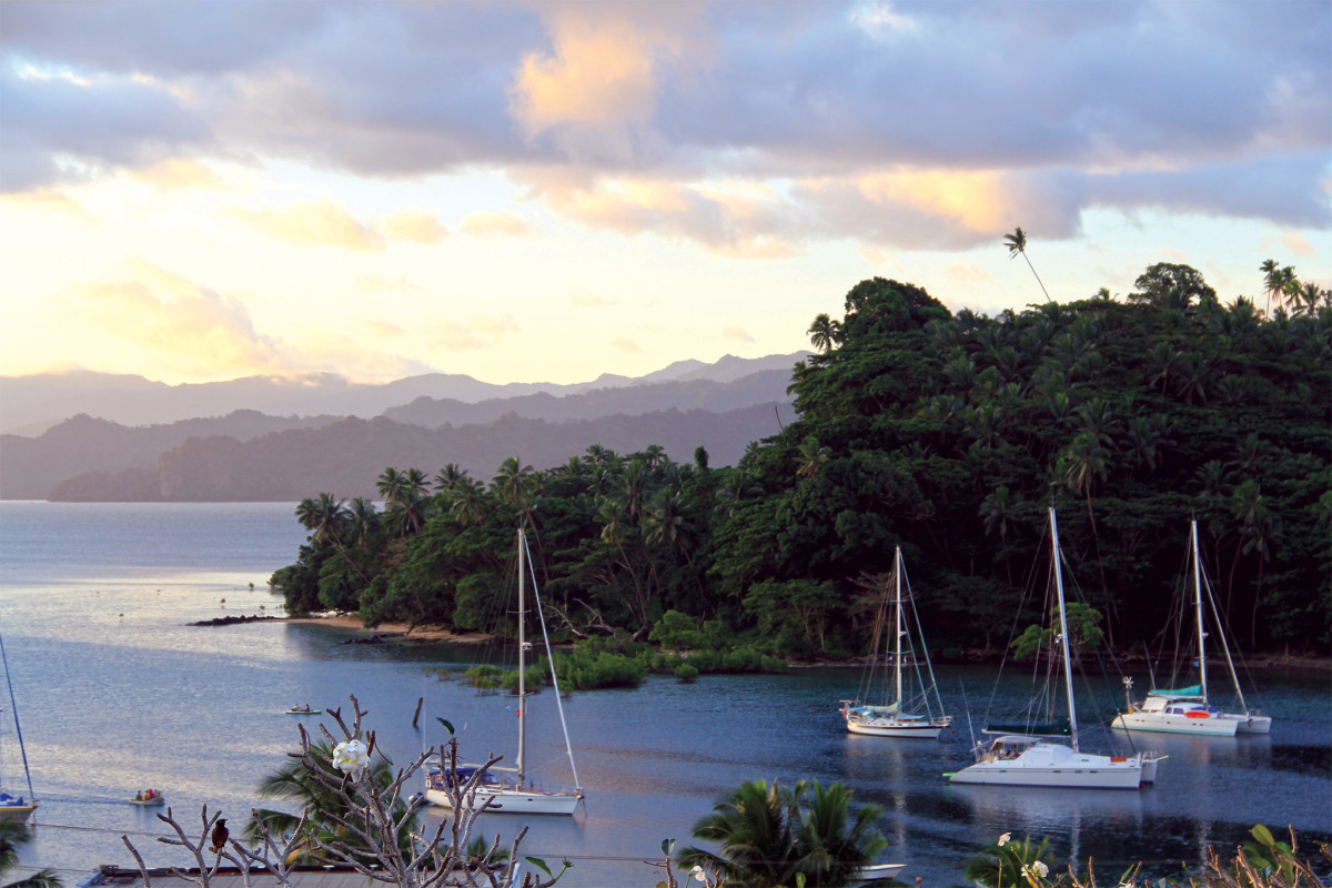 On a mooring in Savu Savu, Fiji