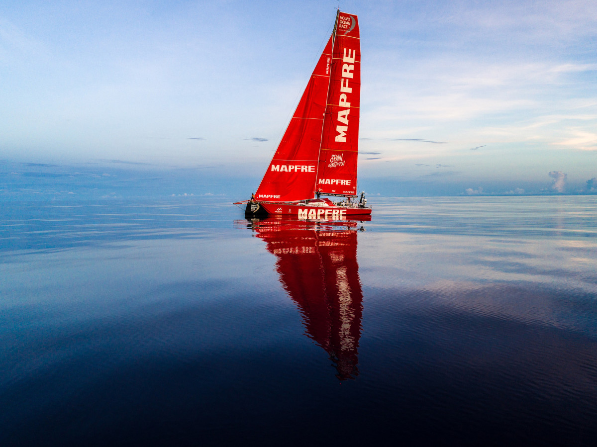 "Mapfre recapitulates Samuel Taylor Coleridge's ""painted ship upon a painted ocean"" midway through Leg 4, from Australia to Hong Kong."