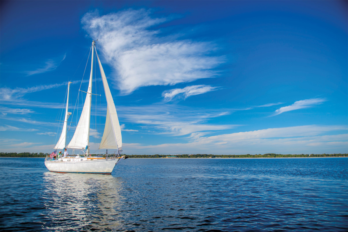 Many liveaboard sailors take to Pensacola Bay every weekend to drop the hook and enjoy the beaches
