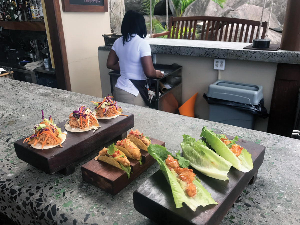 We found some first-class dining at CocoMaya on Virgin Gorda