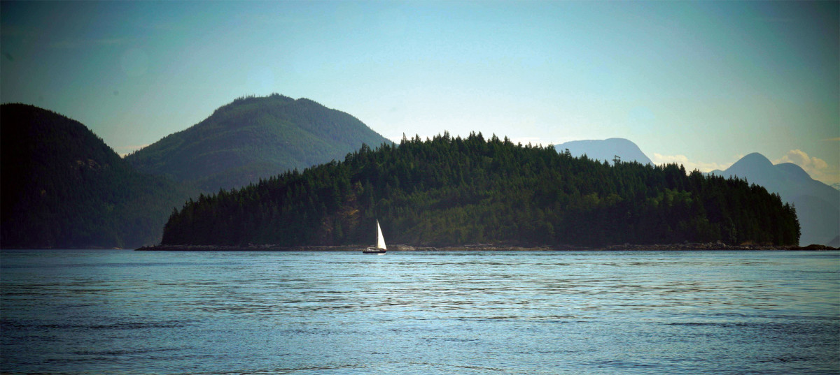 The mountains rise directly from the sea in many parts of Vancouver Island