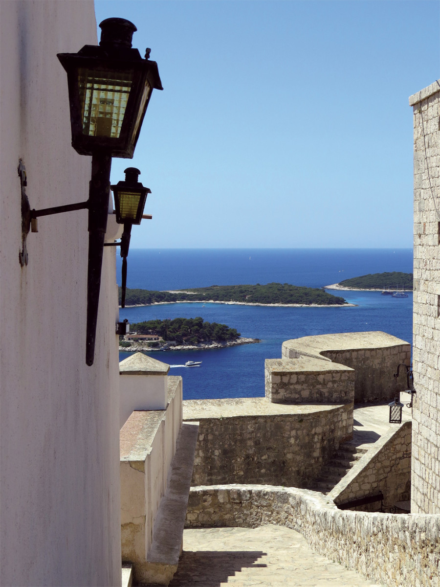 The view from the fort in Hvar overlooks the nearby Pakelni Otoci islands