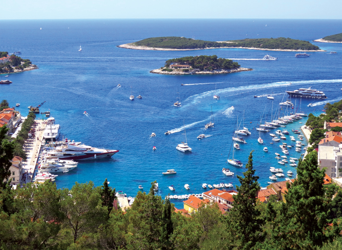 During the high season, Hvar sees its share of superyachts as well as bareboats