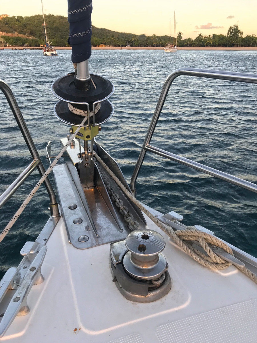 There's nothing like having a little mechanical advantage up on the bow to enhance the anchoring experience
