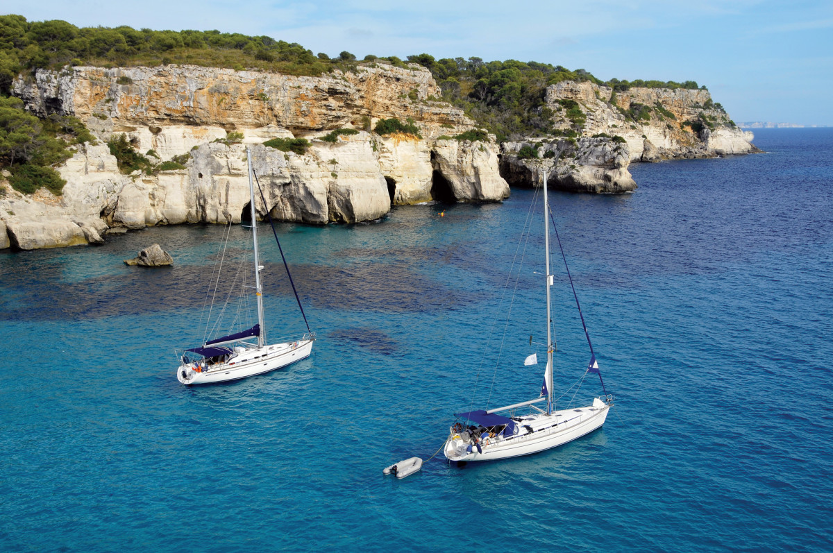 Mallorca's rugged coastline provides plenty of snug anchorages