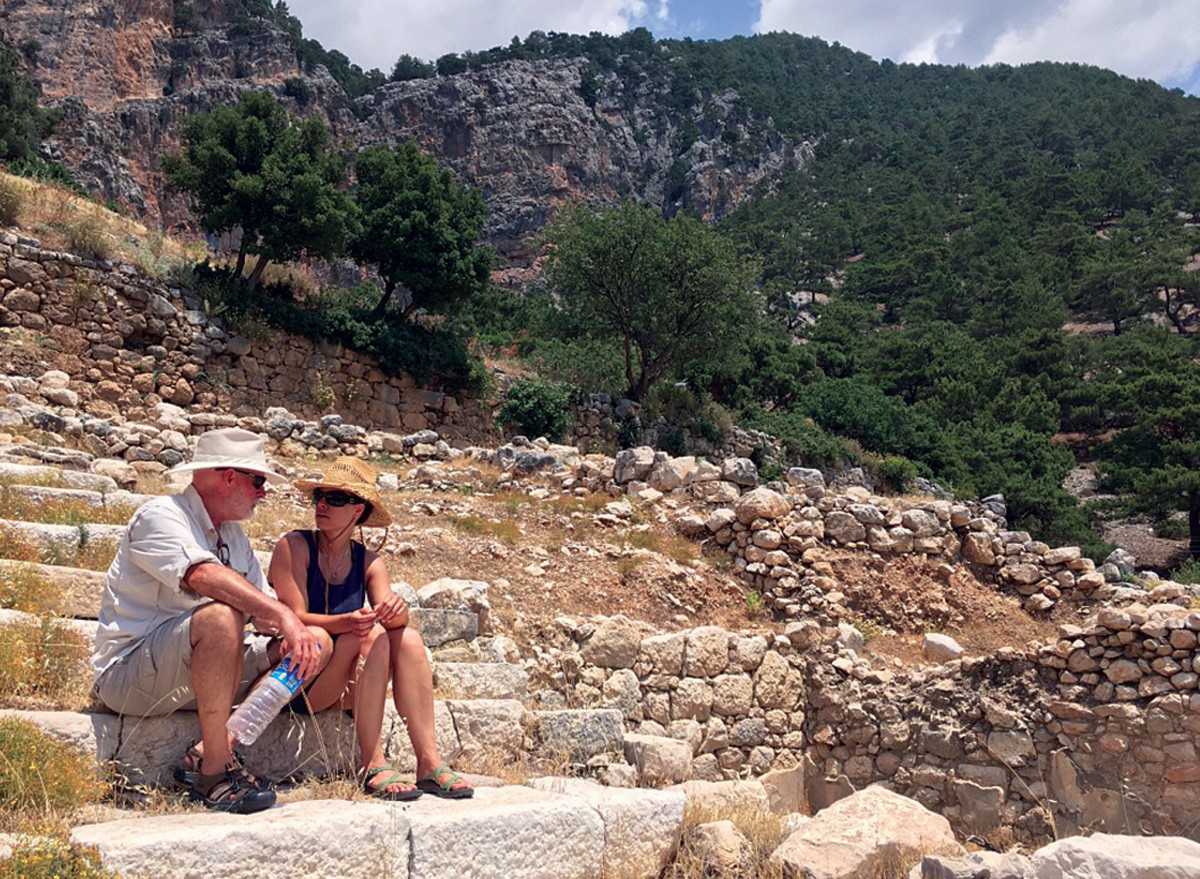 The author and his daughter, Lena, contemplate the history of Arycanda