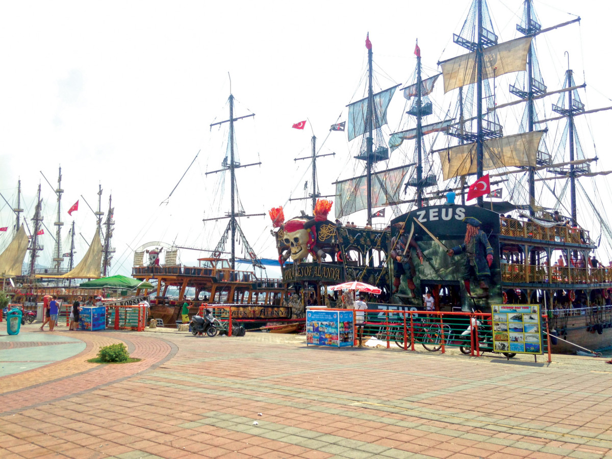 "A ""pirate"" armada prepares to set sail from Alanya"