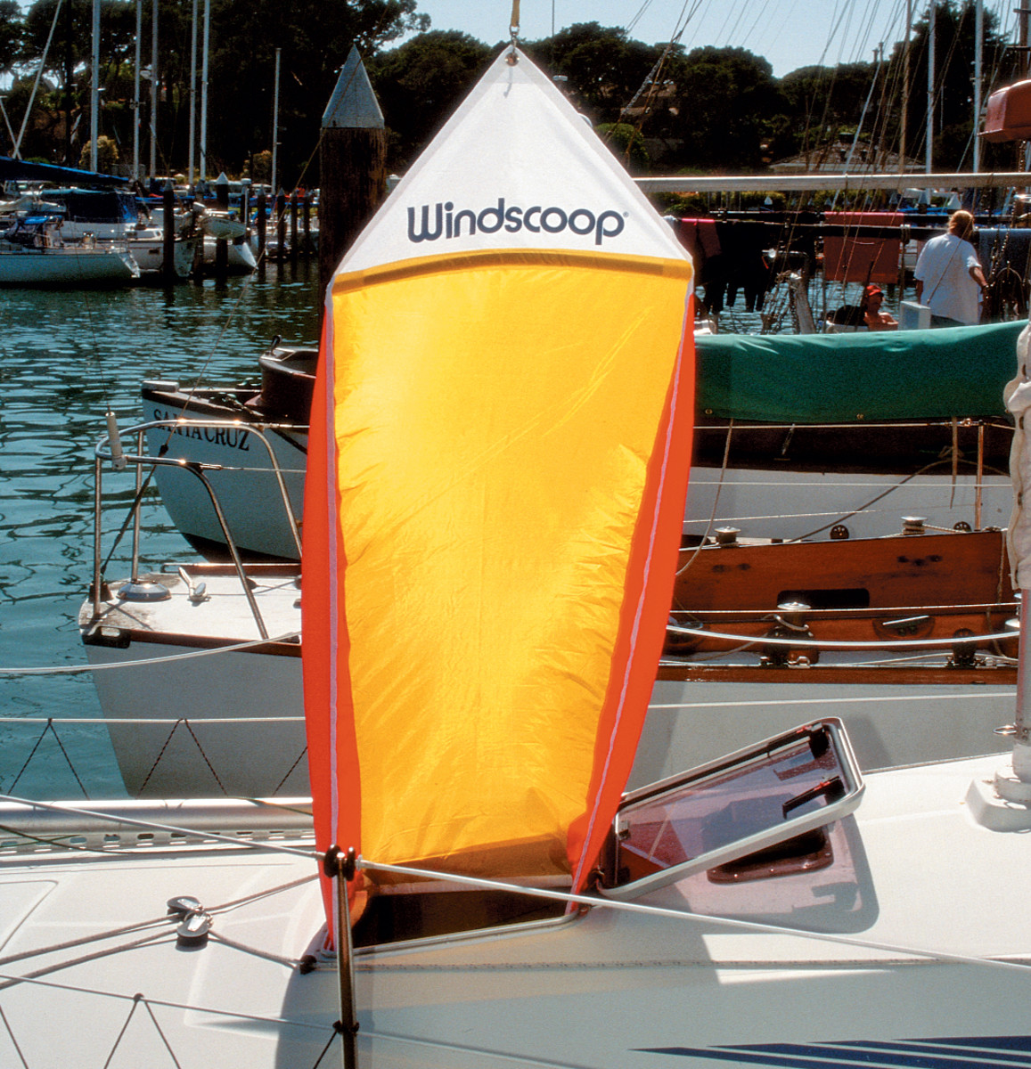 A wind scoop like this one from Davis is a wise investment