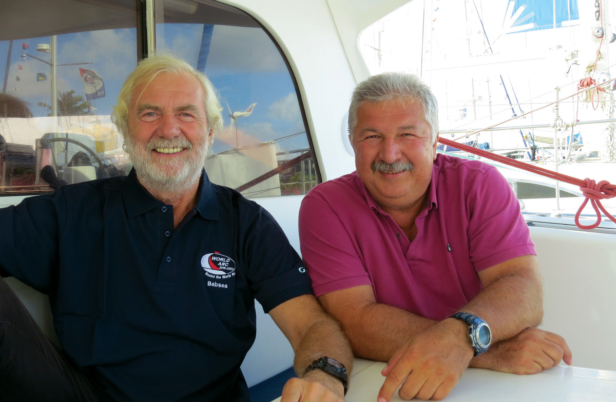 The cheerful Babsea crew, Helmut and Herman,