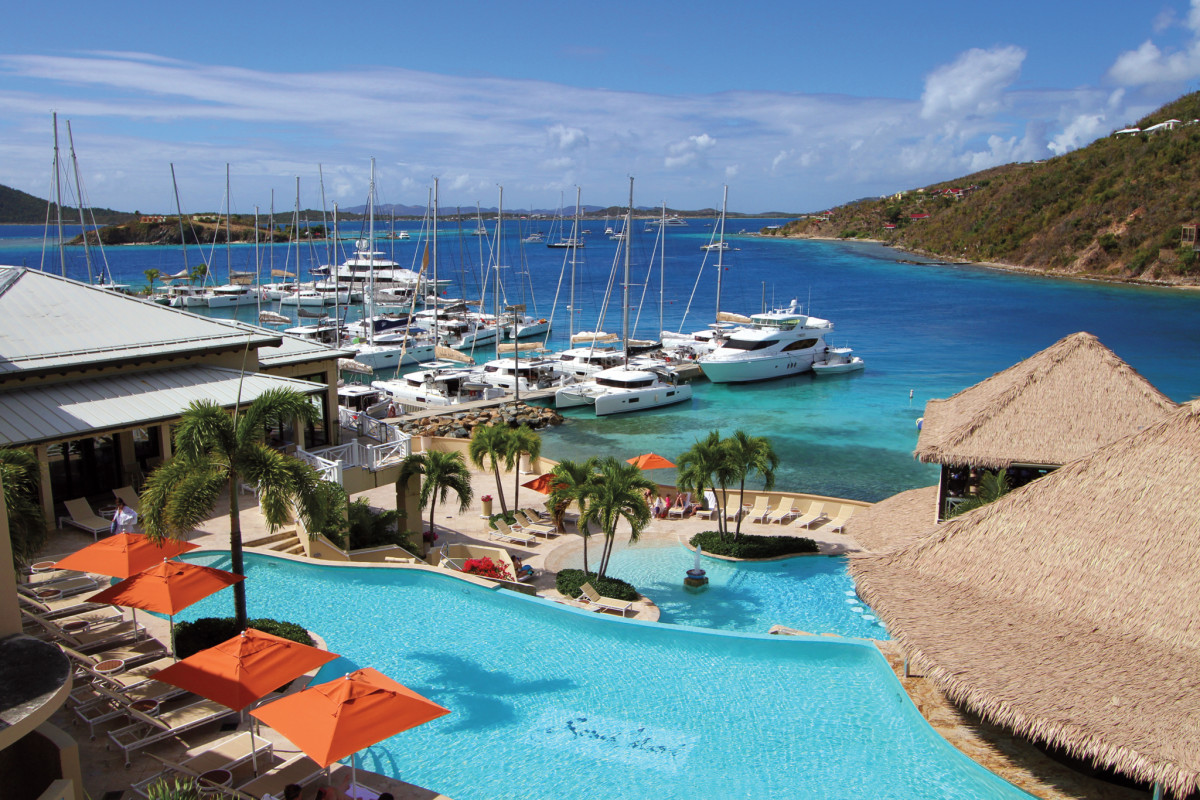 Paradise awaits: the Dream Yacht Charter docks at Scrub Island in the BVI