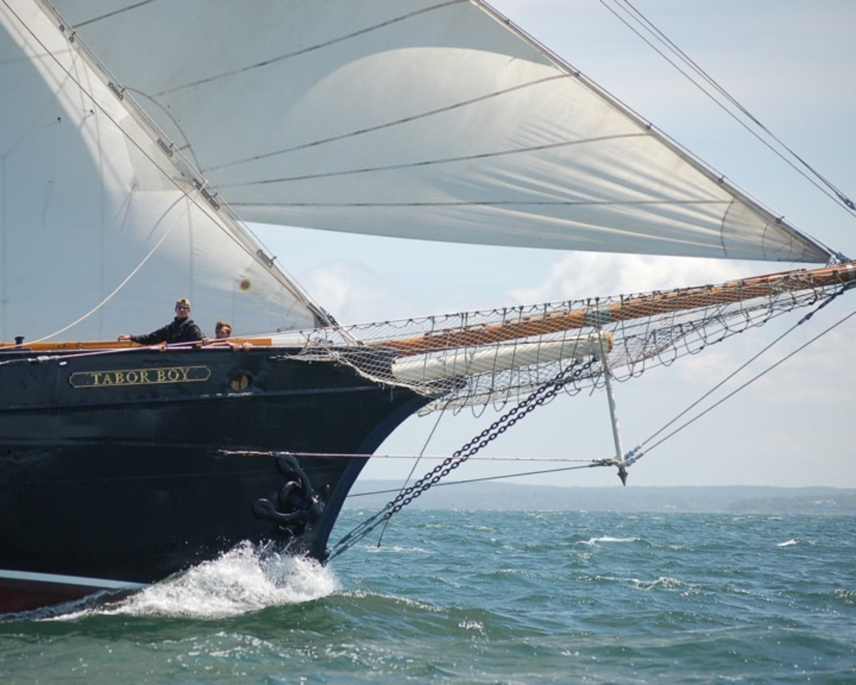 The young crew of the 92ft schooner Tabor Boy sailed a smart, consistent race from start to finish