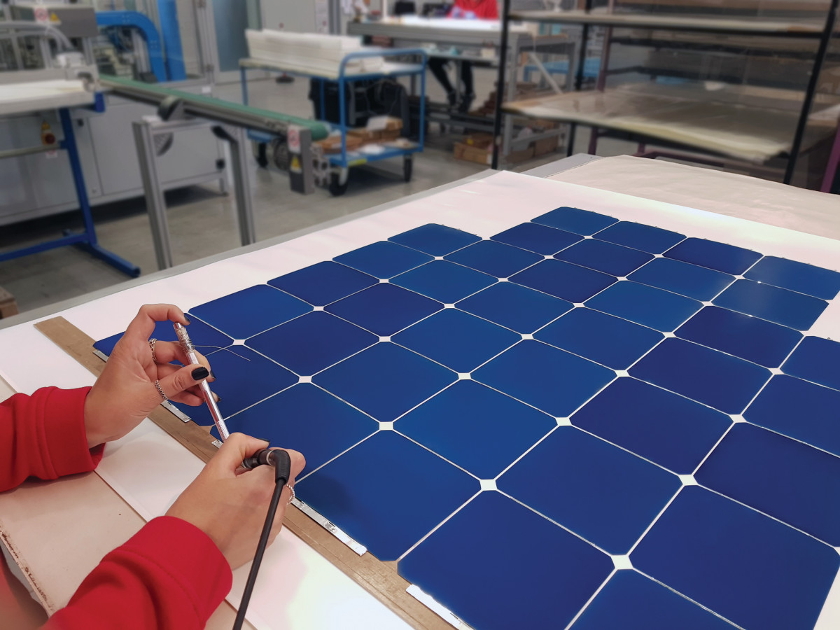"A solar, or photovoltaic, panel contains many electrically connected solar ""cells"""