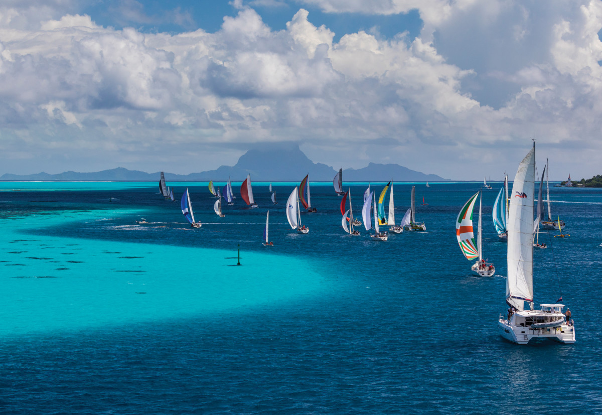 The spectacular backdrop makes the Tahiti Pearl Regatta an unforgettable event