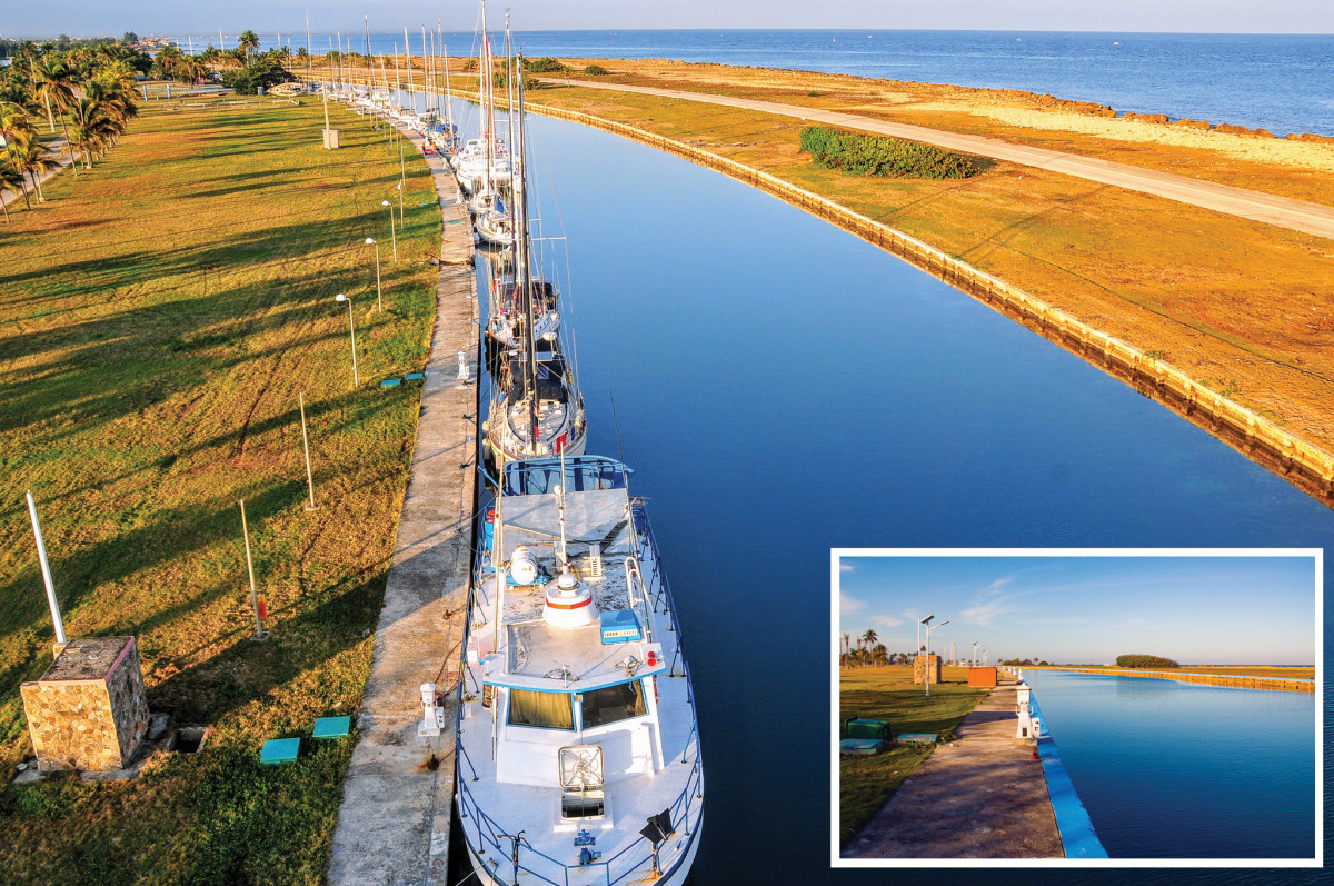 In the spring of 2016, Cuba's Marina Hemingway was packed with American boats. It was a different story two years later (inset)