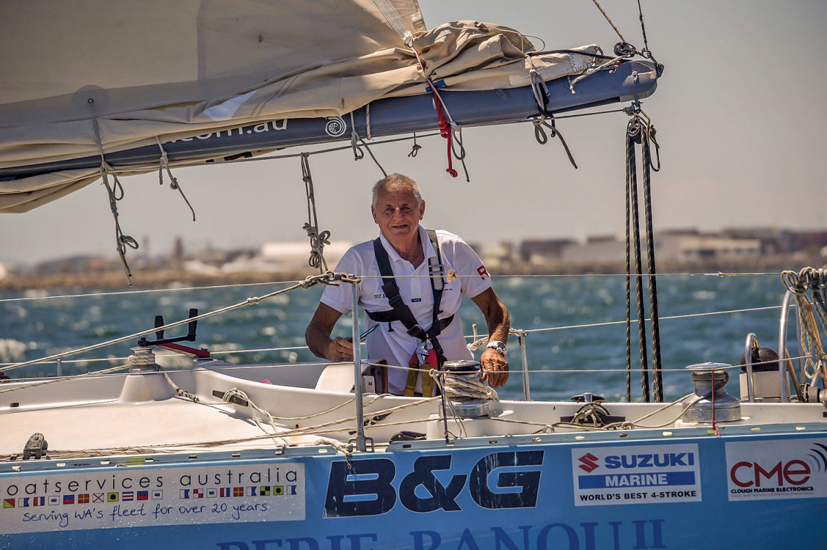 The tough Aussie is about to sail around the world again