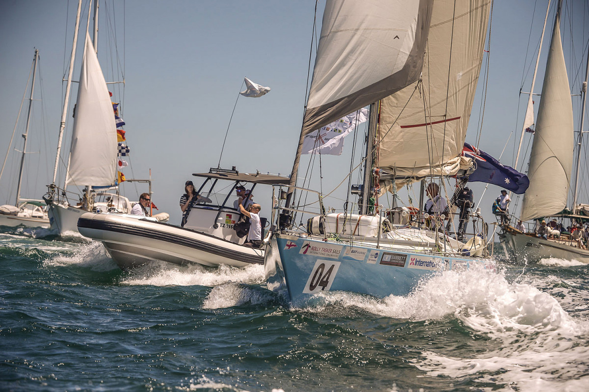 Sanders is welcomed home at the end of his tenth circumnavigation