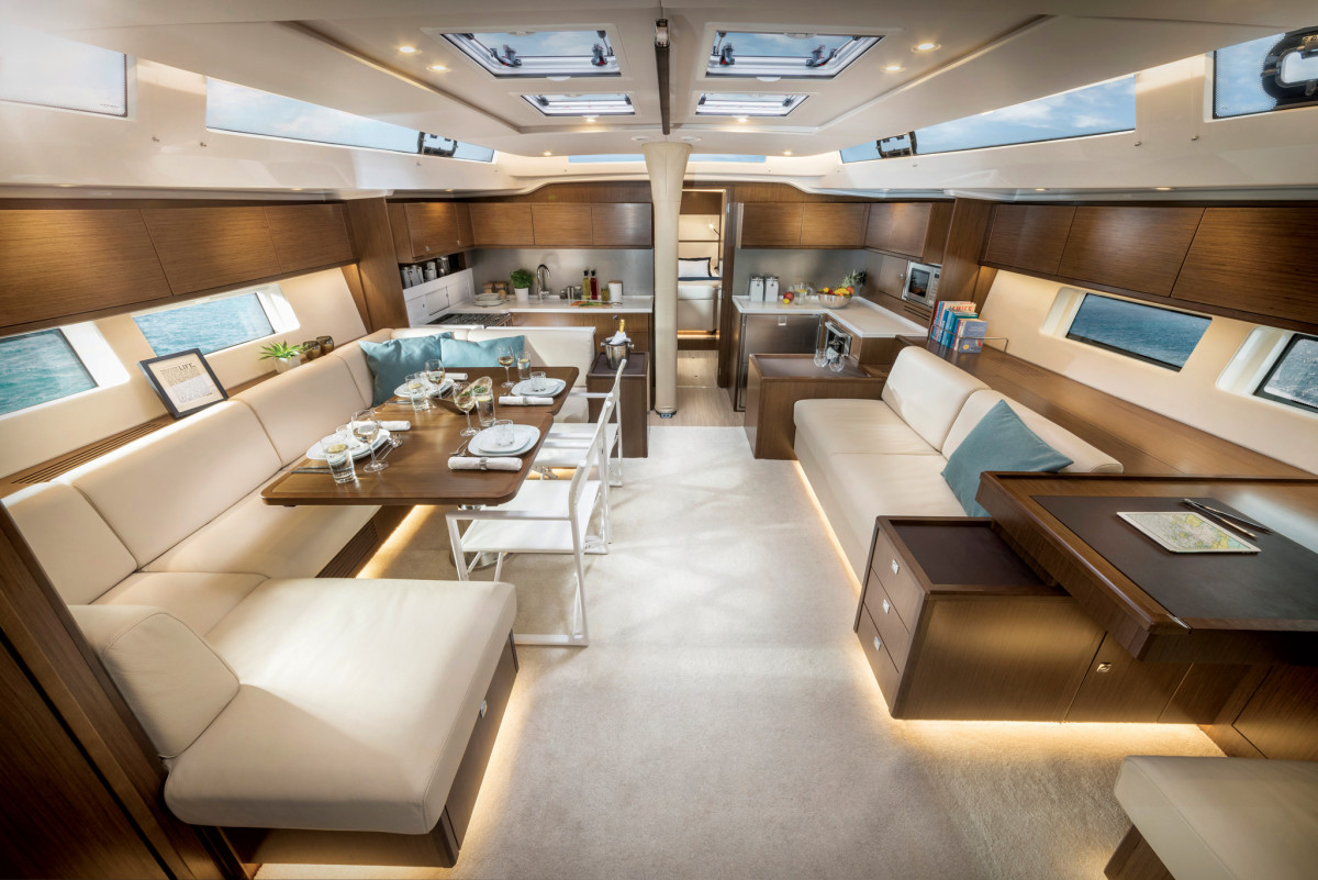 The overall feel belowdecks is one of a luxury home