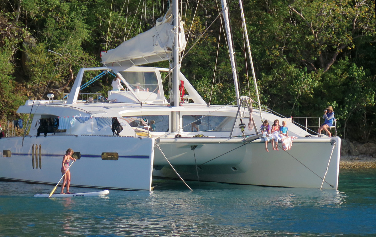 Although bareboats are most popular, many companies offer crewed charters