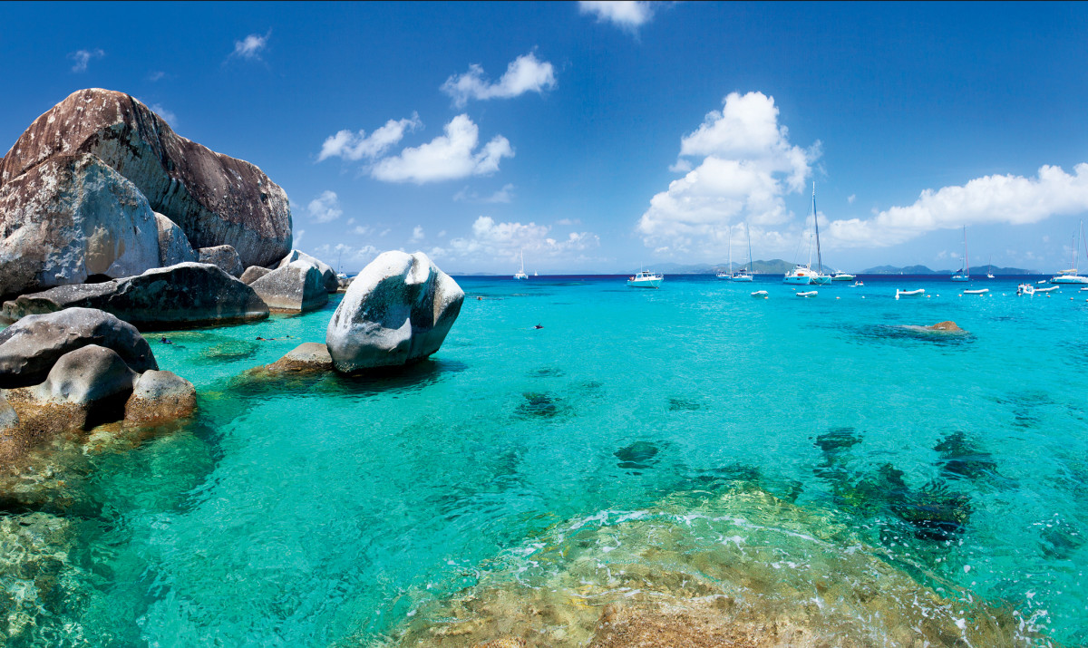 One of the charter world's most iconic views: the Baths on Virgin Gorda