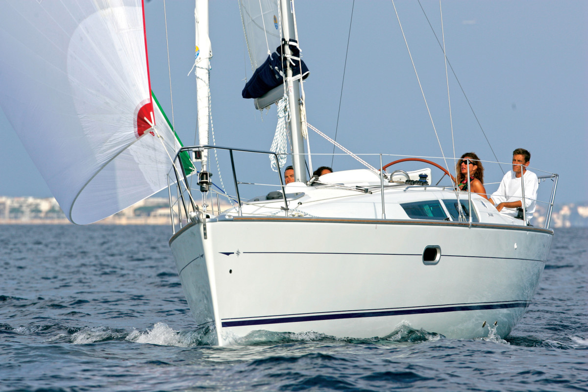 The Jeanneau Sun Odyssey 32i is one of many Sun Odyssey designs penned by Briand over the years