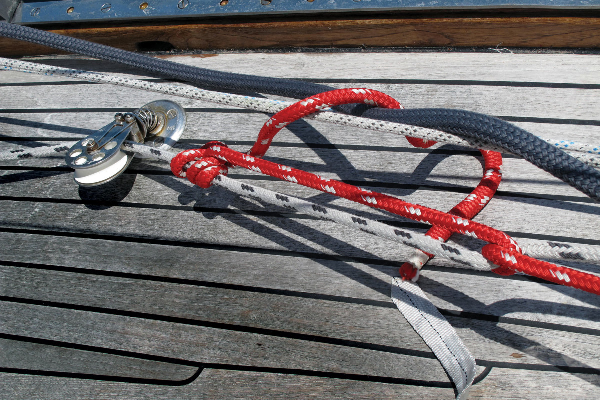 A half-hitch before the rolling hitch adds security