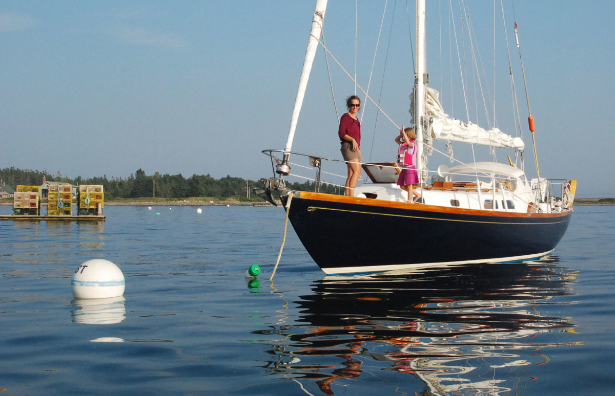 Public moorings, like this one in Maine, are not always available