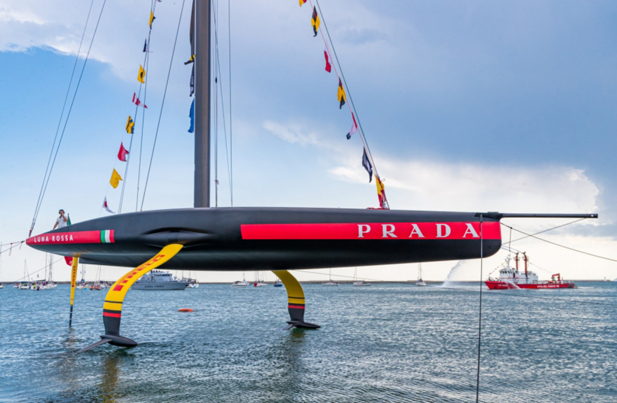 Luna Rossa's AC75 full-foiling monohull is the third to be launched in the runup to the 36th America's Cup, set to take place in early 2021 down in New Zealand