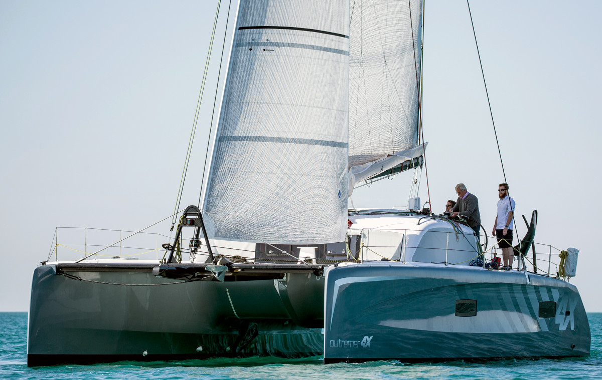 Jimmy Cornell is set to circumnavigate on an electric Outremer 4X catamaran