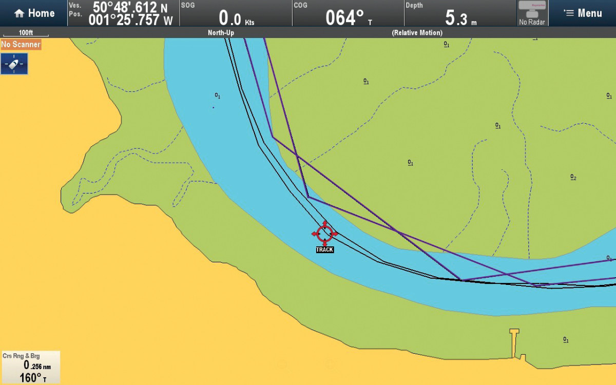 The plotter's track function can help you in tight harbors