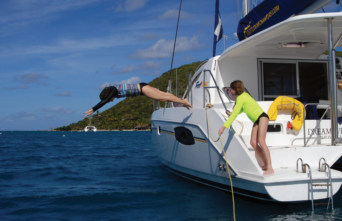 Multihulls also make great diving platforms!