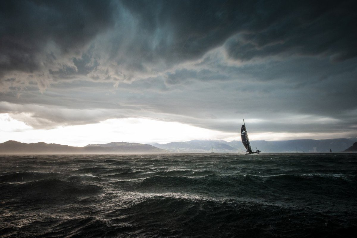 A D35 catamaran struggles to stay upright during a vicious summer squall in the winning entry from this year's Mirabaud Yacht Racing Image competition