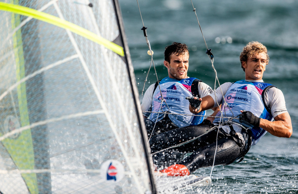 Andrew Mollerus (left) and Ian MacDiarmid are one of the young 49er crews vying for an Olympic spot