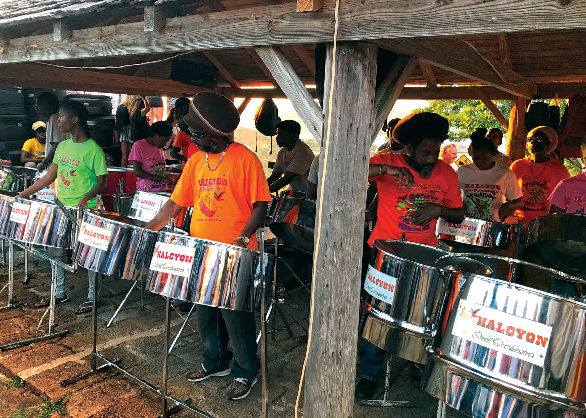Yes, steel bands are part of the Caribbean equation