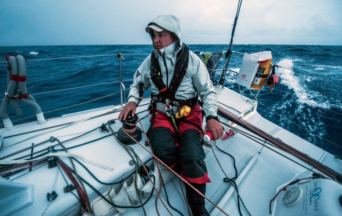 U.S. Class40 sailor Mike Hennessy had an outstanding race