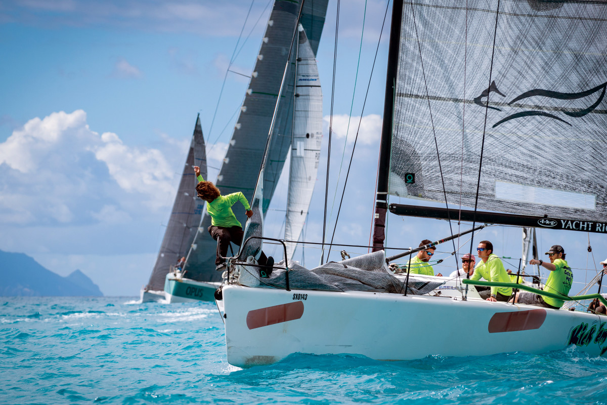 With conditions like these, it's no wonder sailors keep returning in force to race off St. Maarten