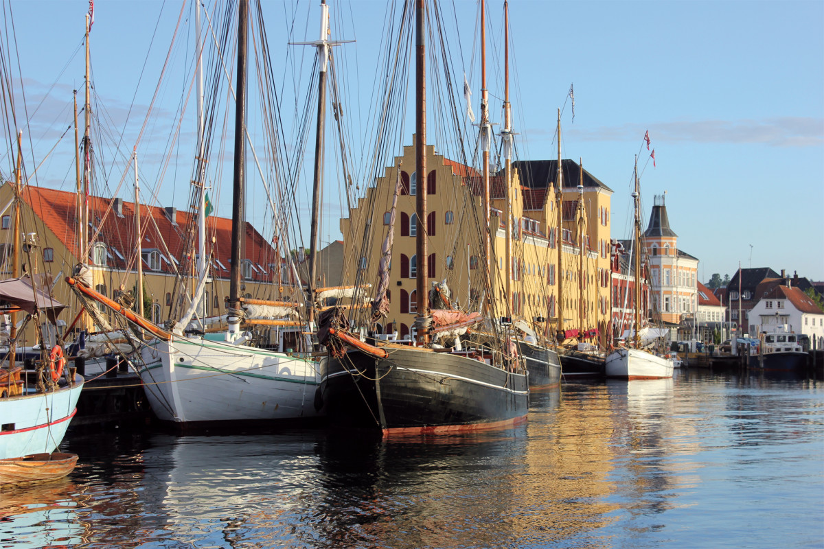The Danes have a strong maritime tradition, exemplified by these perfectly preserved working boats