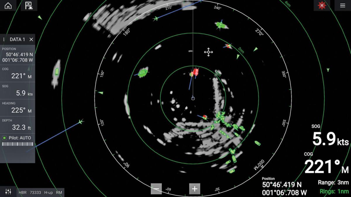 Raymarine's Quantum 2 showing  Doppler tracking