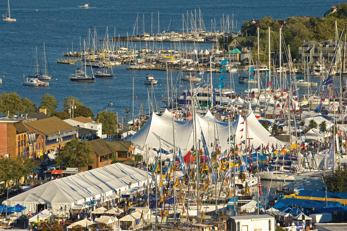 The United States Sailboat Show in Annapolis showcases scores of charter opportunities