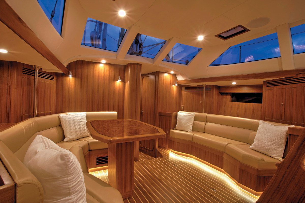 The workmanship belowdecks is impeccable throughout