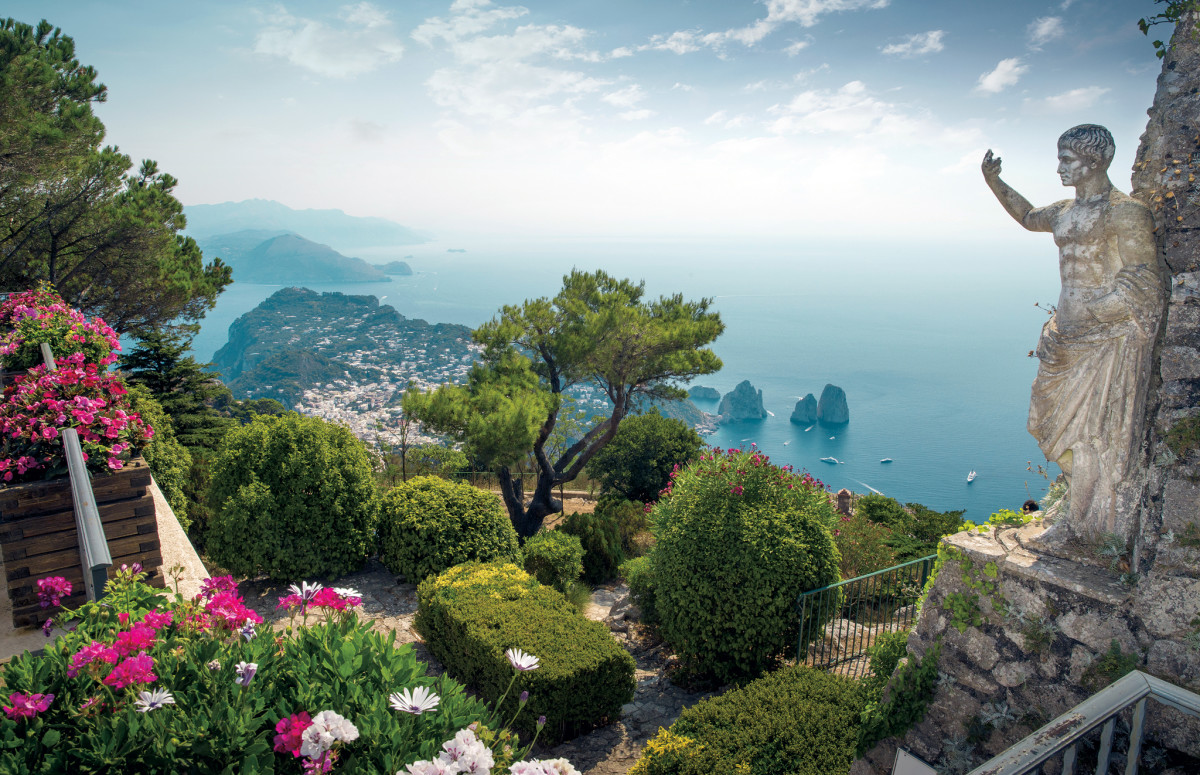 A view of Capri from Mount Solaro