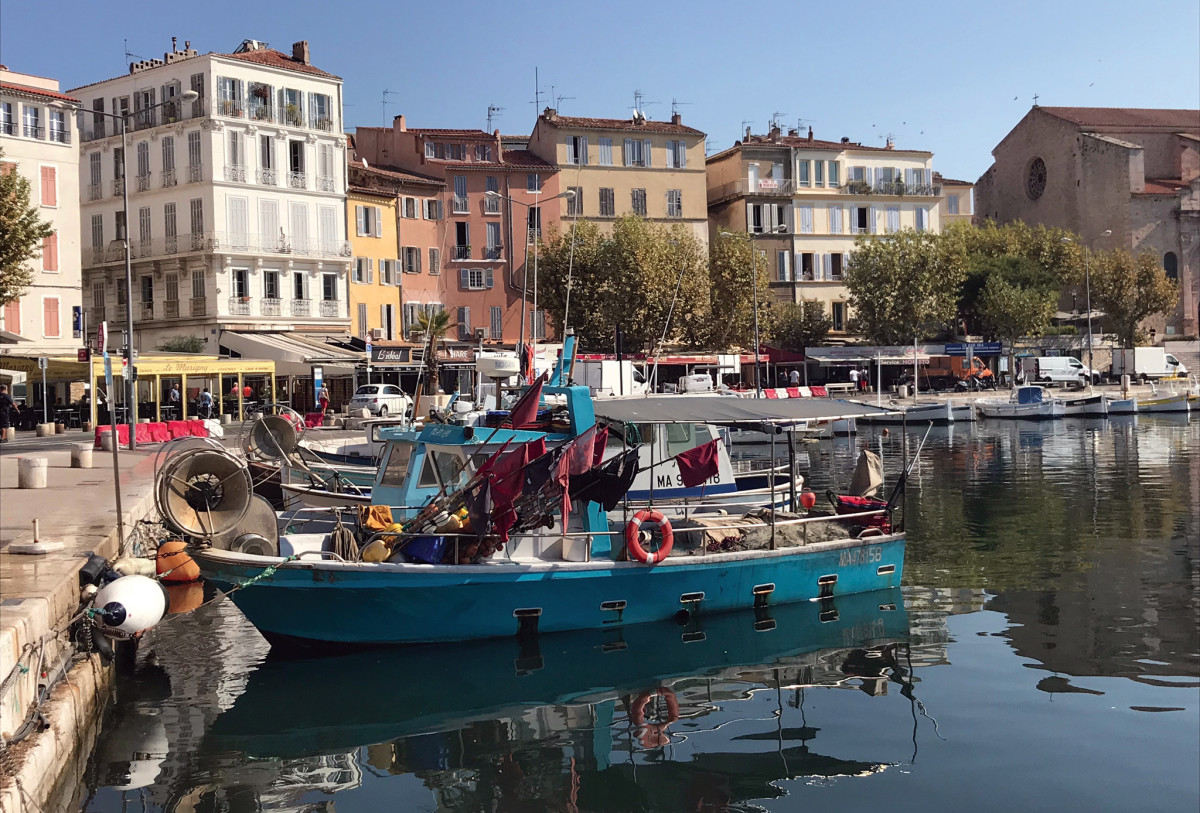 The inner harbor at La Ciotat was packed with workboats and pleasure craft