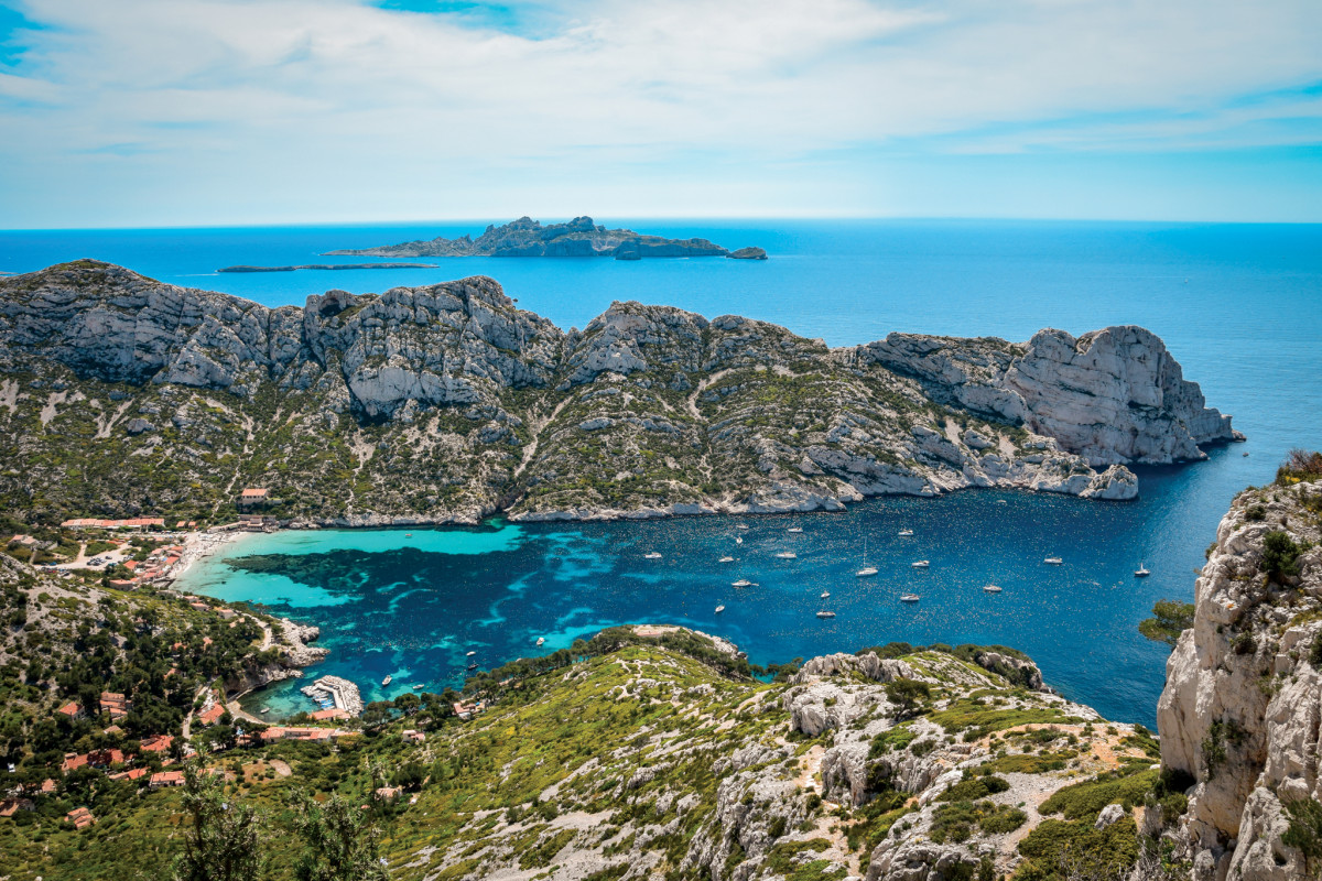 The calanques near Marseille are unique and beautiful anchorages