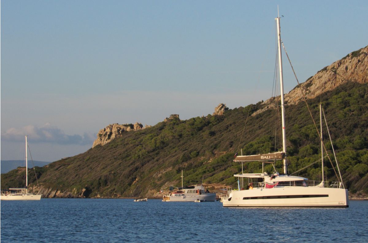 Anchored at last at Porquerolles