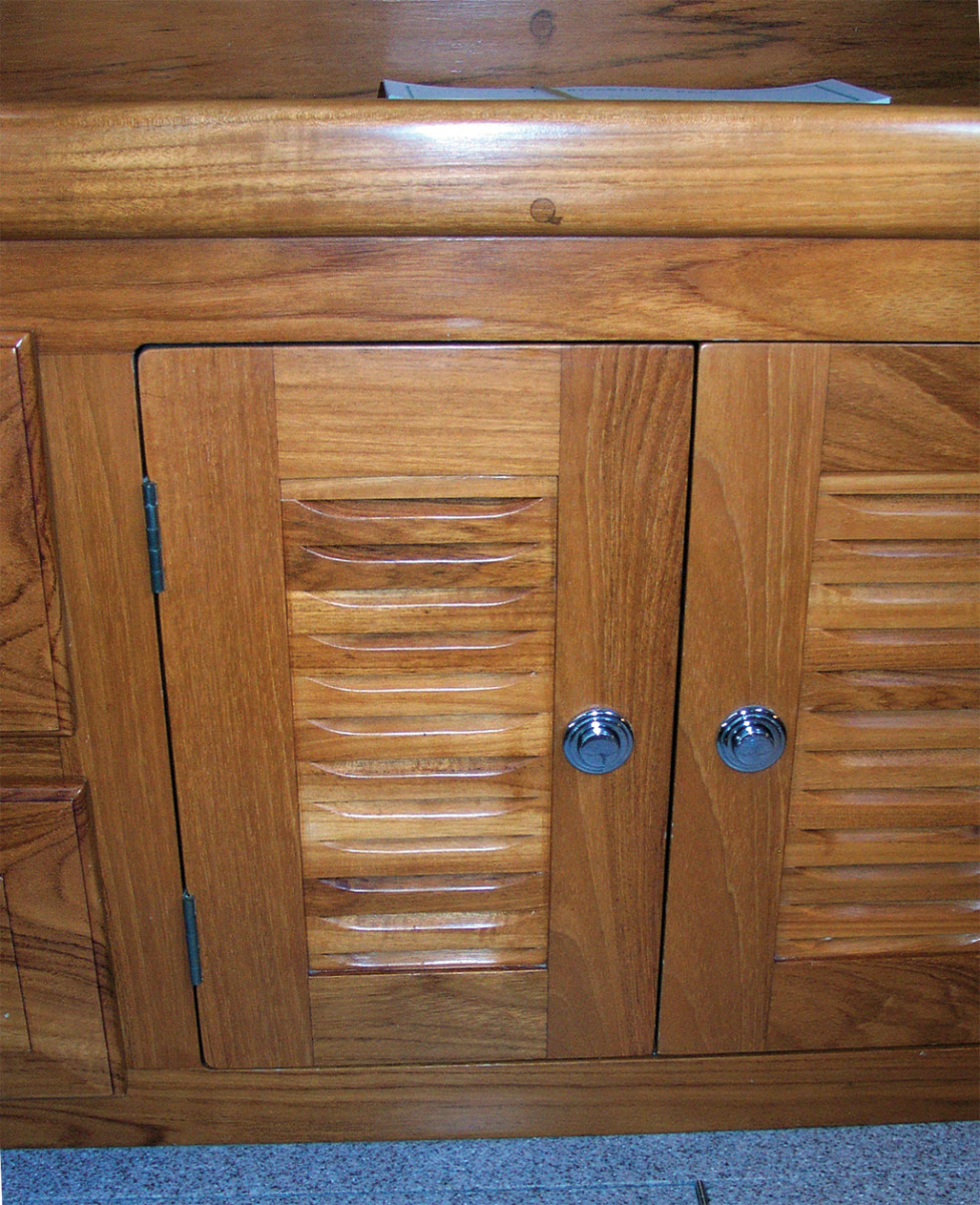 The louvered locker door design spotted at the Annapolis Boat Show
