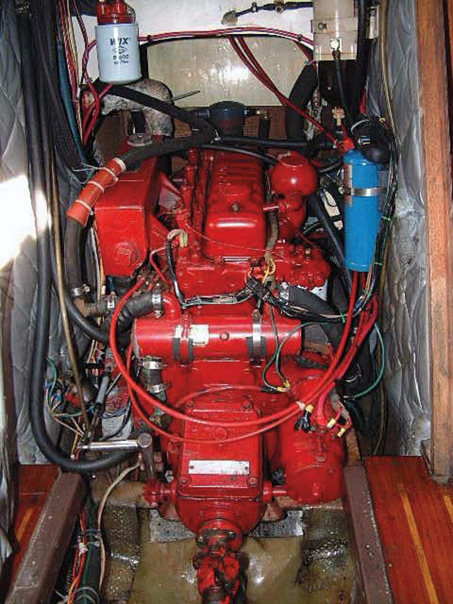The original small engine compartment