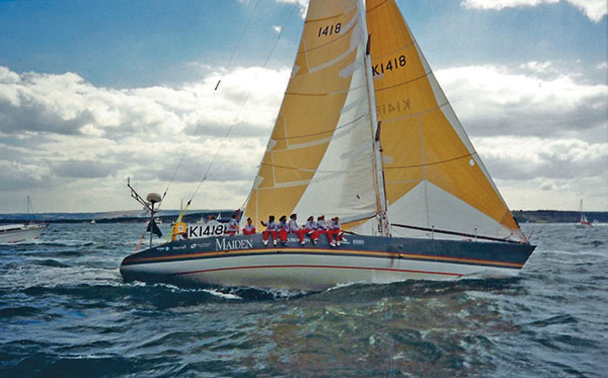 Maiden sets out for Uruguay during the 1989-90 Whitbread race