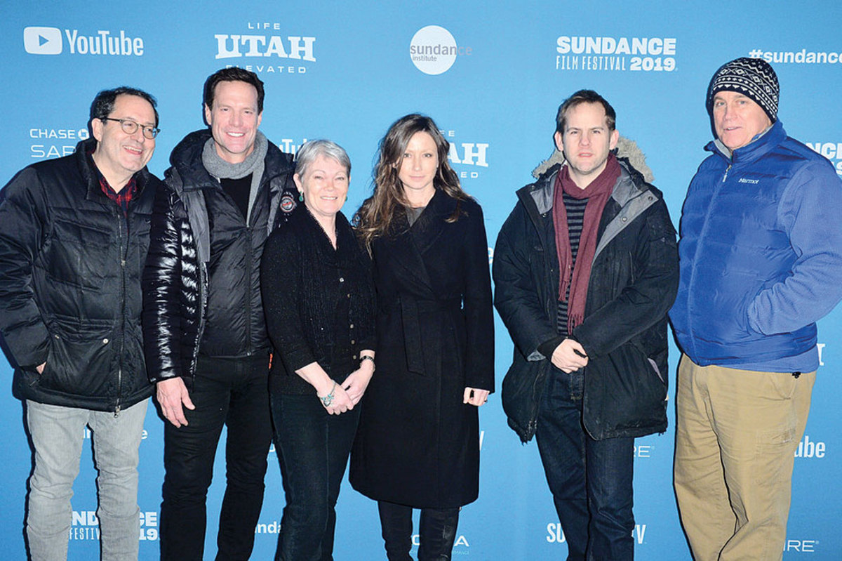 Alex and Tracy (second and third from the left) at the 2019 Sundance Film Festival